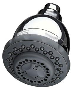Culligan WSH-C125 Wall-Mount 10,000 Gallon Capacity Filtered Showerhead, Chrome Finish