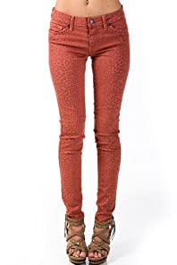 Safari Spotted Jeans in Redwood Red