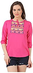 Fem&Her Women's Round Neck Top (PP19, Pink, 36)