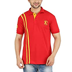DKCLUES Men's Red Color Half Sleeve T-Shirts