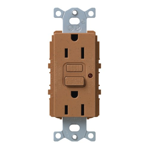 Lutron Scr-15-Gftr-Tc Satin Colors 15A Gftr Electrical Socket Receptacle, Terracotta