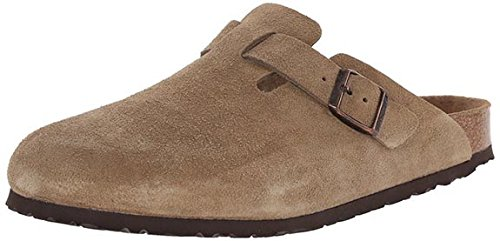 Birkenstock Men's Boston Soft Footbed Taupe Suede 37 R