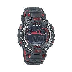 Sonata Digital Black Dial Mens Watch - 77009PP01