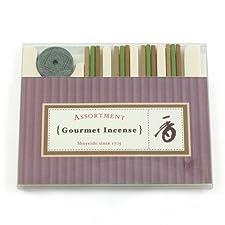 Shoyeido Gourmet Incense - Juego de 12 varillas de incienso y soporte, aroma de olíbano, chai y sándalo