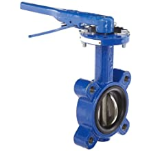 "Dixon BFVL300 Ductile Iron Threaded Lug Style Butterfly Valve with Aluminum Bronze Disc and Buna-N liner, 3"" Size, 200 psi Pressure"