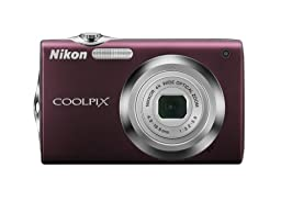 Nikon Coolpix S3000 12.0 MP Digital Camera with 4x Optical Electronic Vibration Reduction (VR) Zoom and 2.7-Inch LCD (Plum)