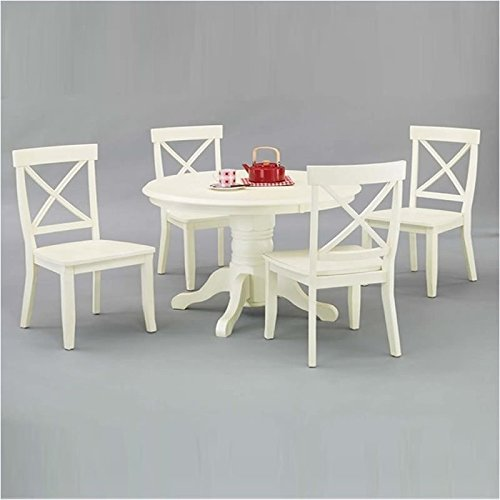 Home Styles 5177-318 5-Piece Dining Set, Antique White Finish (Dining Pedestal compare prices)