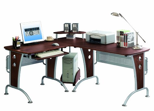 Buy Low Price Comfortable Mad Tech 33x57x67 Mahogany Mdf Panel & Steel Frame Computer Office Desk Table (B004W0MI3Q)