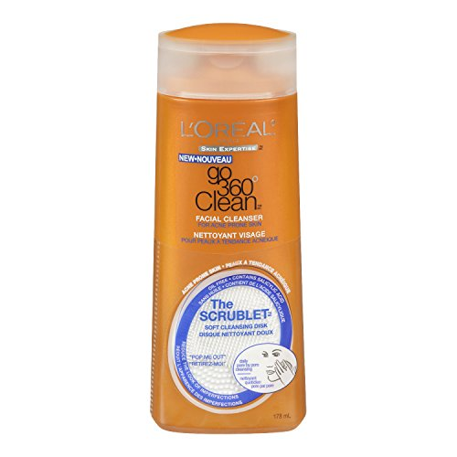 L'Oreal Paris discount duty free L'Oreal Paris Go 360 Clean, Anti-Breakout Facial Cleanser, 6-Fluid Ounce