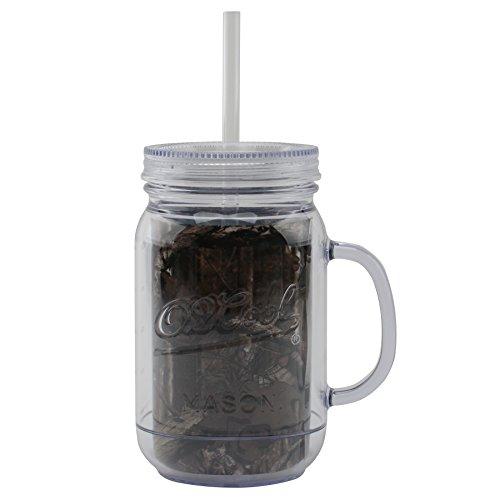 O2COOL® Mason Jar Insulated Tumbler 32 oz., Mossy Oak Break-Up Infinity® (Mason Jar Water Bottle Pink compare prices)