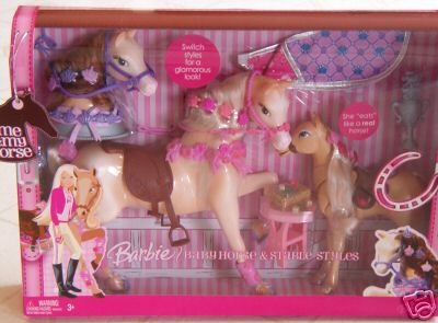Barbie Baby Horse & Stable Styles - Buy Barbie Baby Horse & Stable Styles - Purchase Barbie Baby Horse & Stable Styles (Barbie, Toys & Games,Categories,Dolls,Playsets,Fashion Doll Playsets)