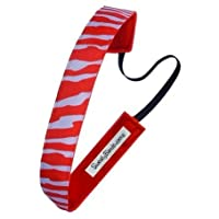 Sweaty Bands - Racing Stripes - #1 Fitness Headband! (Red and White, 1