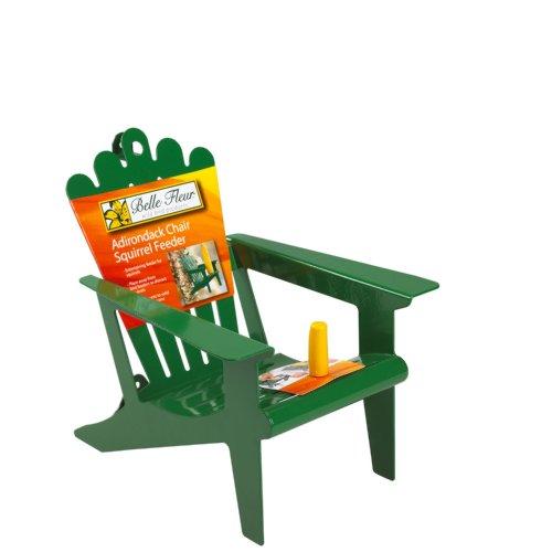 Belle Fleur 50116 Adirondack Chair Squirrel Feeder, Mint Green