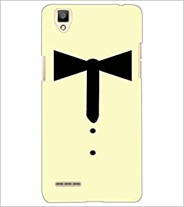 PrintDhaba Collar Ribbon D-3353 Back Case Cover for OPPO F1 (Multi-Coloured)