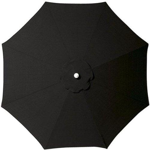 Replacement Canopy For Aluminum frame Outdoor Market Umbrella, 11' DIAMETER, BLACK SUNBRELLA