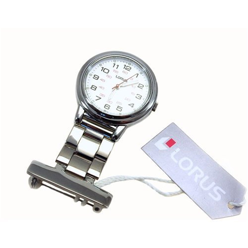 Lorus Professional White Dial Nurses Fob Watch RG251CX9
