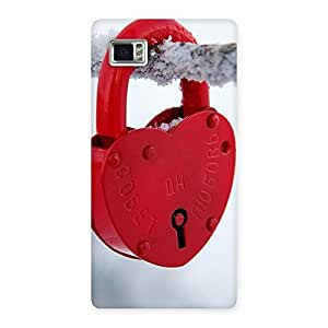 Gorgeous Red Lock Multicolor Back Case Cover for Vibe Z2 Pro K920
