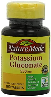 Nature Made, Potassium Gluconate, 550 mg, 100 Tablets