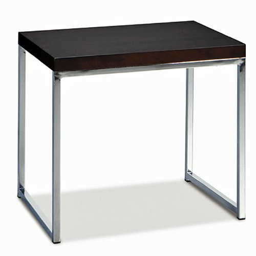 Cheap End Table with Chrome Base in Espresso Finish (WST09)