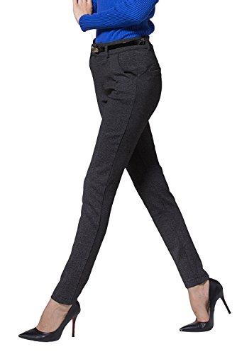 Yangmu Company Women's Wear to Work Cotton Powerflex Stretch Legging Pants (S, Gray)¡