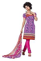 Variation Women's Purple Crepe Unstiched Dress Material (VD14303)