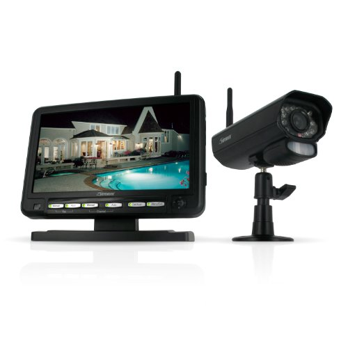Big Save! Defender PX301-010 Digital Wireless DVR Security System with 7 Inch LCD Monitor, SD Card R...