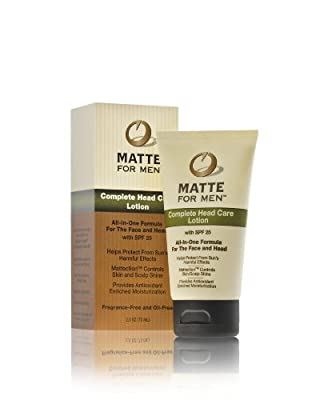 Best Cheap Deal for Matte For Men Complete Face and Head Care Lotion with SPF 25, 2.5-Ounce from Lescoja Corporation - Free 2 Day Shipping Available