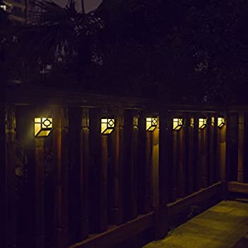 light xlux s55 solar powered lights for house outdoor landscape garden fence lamp