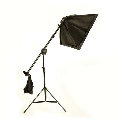 バンクライト ブームセット 写真撮影用照明セット 4灯ソケット+三脚スタンド+傘 ソフトボックス