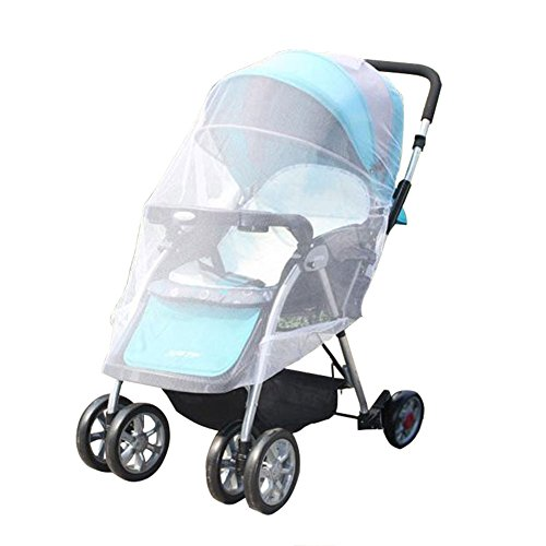 Baby Mosquito Net for baby Strollers,SZXKT Carriers, Car Seats, Cradles. Fits Most Pack'n'Plays, Cribs, Bassinets & Playpens. 47 x 59 Inch, Made of White, Portable & Durable Baby Insect Netting (Pack N Play Netting compare prices)