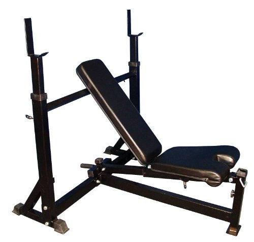 Black Commercial Olympic Decline Incline Bench Press
