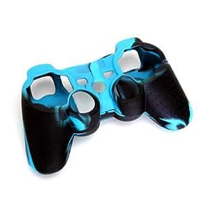 Haut Kasten Silikon Schutzhülle für PS2 PS3 Controller Blau und Schwarz