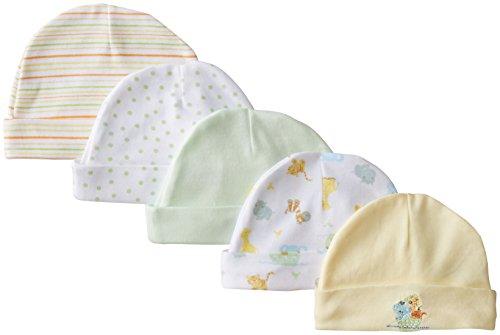 Spasilk Unisex-Baby Newborn 5 Pack Cotton Hats