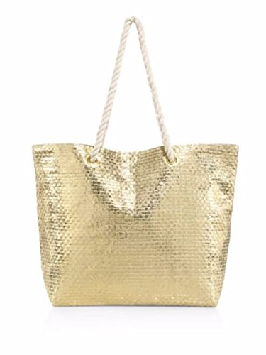 luxurious-saks-fifth-avenue-tote-gold