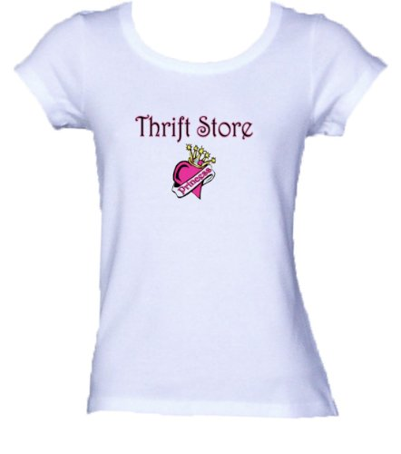 Thrift Store Princess *Bella Ladies FITTED T-shirt WHITE MEDIUM