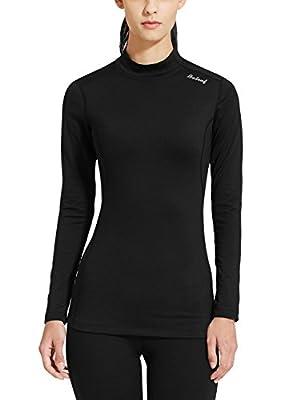 Baleaf Women's Fleece Thermal Active Running Shirt