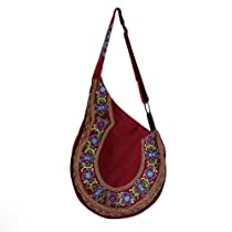 Embi Bags Boho Guitar Shape Tote -Red