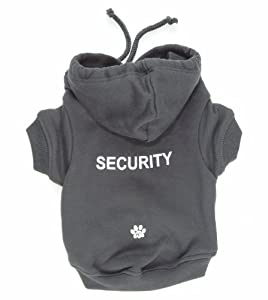 K9 Security On Grey Hoodie, Xtra Large
