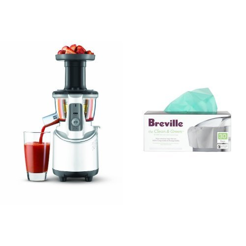 Breville BJS600XL Masticating Juicer and Biodegradable Pulp Bin Liner Bags (Breville Juicer Masticating compare prices)