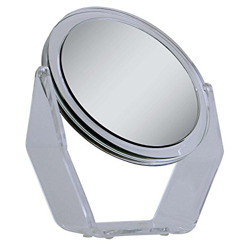 Zadro Dual Sided Swivel Vanity Mirror, Acyrlic Finish, 1X And 5X