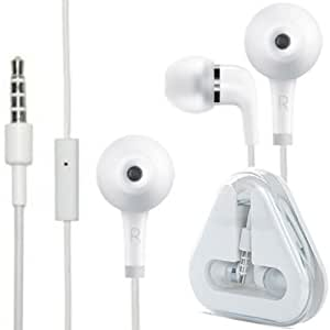 HIGH QUALITY WHITE IN-EAR EARPHONE HEADPHONE HANDSFREE WITH MIC FOR HTC SENSATION 4G XE XL VIVID WILDFIRE S A290