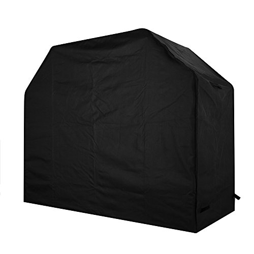Homitt Gas Grill Cover, 58-inch 600D Heavy Duty Waterproof BBQ Grill Cover for Weber, Holland, Jenn Air, Brinkmann and Char Broil -Black (Charbroil Barbecue Covers compare prices)
