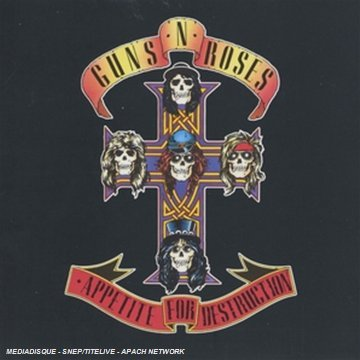 Original album cover of Appetite for Destruction by Guns N' Roses