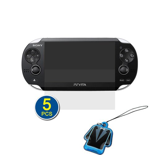 Birugear 5X Clear Lcd Screen Protector + Lcd Pvc Mobile Cleaner For Sony Ps Vita
