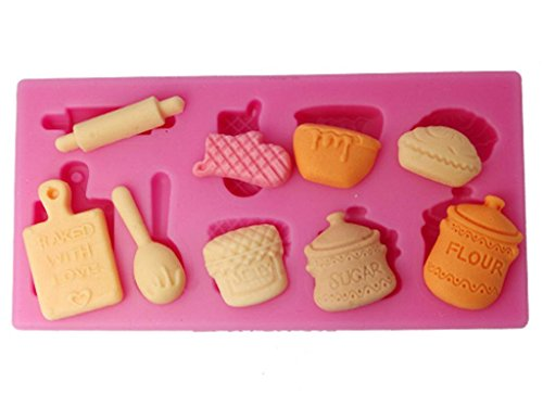 FOUR-C Silicone Mould Kitchen Utensils Cupcake Top Mould Color Pink