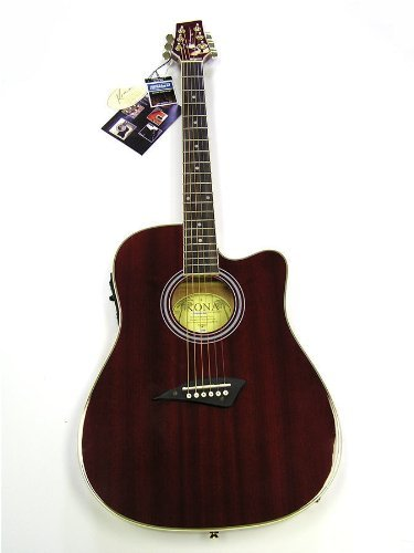 Kona K2 Series Thin Body Acoustic/Electric Guitar - Red