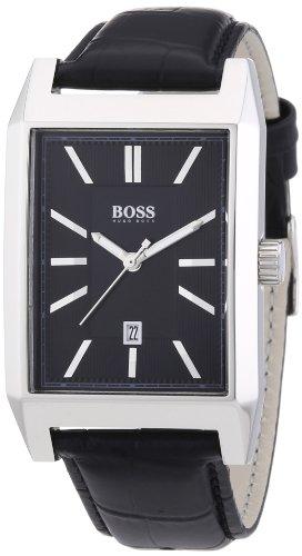 Hugo Boss  1512915 - Reloj de cuarzo para hombre, con correa de cuero, color negro