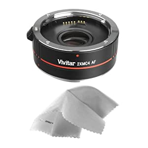 Canon EOS 7D 2x Teleconverter (4 Elements) + Nwv Direct Microfiber Cleaning Cloth.
