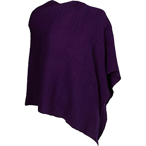 kinross-cashmere-twisted-cable-drape-poncho-wild-violet