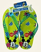 Disney Mickey Mouse Children's Yellow Sandals - Kids Mickey Sandals (Medium Sz 1/2)